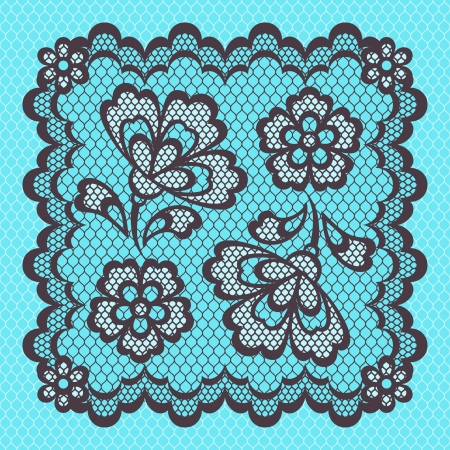 handwork: Vintage lace frame, abstract ornament texture.