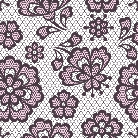 Old lace seamless pattern, ornamental flowers texture.