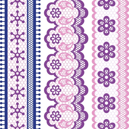 fancywork: Old lace ribbons, abstract ornament texture.
