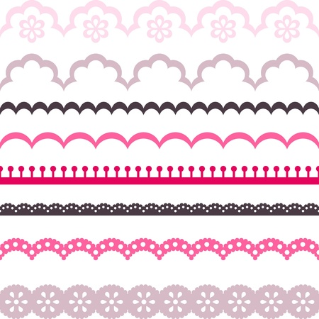 Old lace ribbons, abstract ornament  texture. Vector