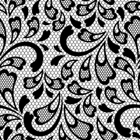 Old lace seamless pattern. Vector texture. Vector