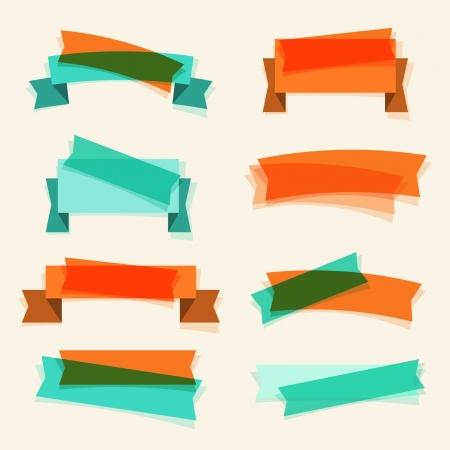 scrap trade: Set di nastri retr�, banner ed elementi di design