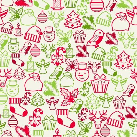 christmas seamless pattern: Merry Christmas seamless pattern. Illustration