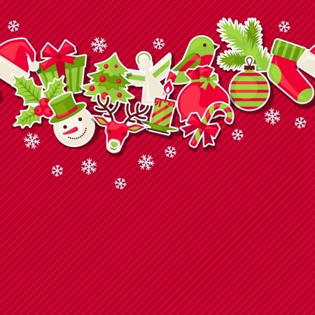 Merry Christmas seamless pattern. Illustration