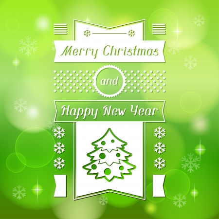 Merry Christmas background for invitation card. Vector