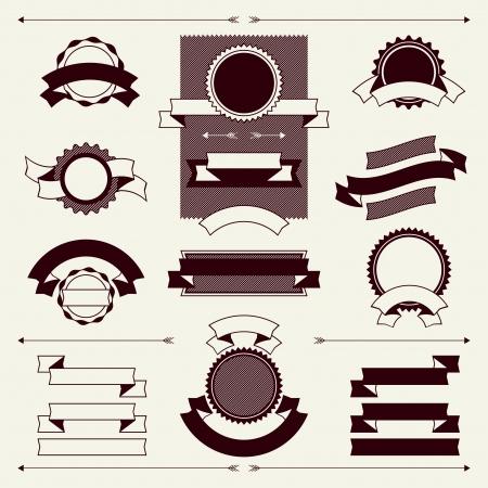 scrap trade: Collezione di etichette e nastri in stile retr� vintage.