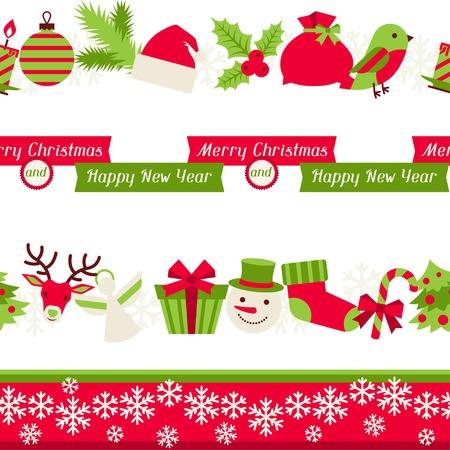 candy border: Merry Christmas seamless borders.