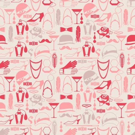 Retro of 1920s style seamless pattern. Illustration