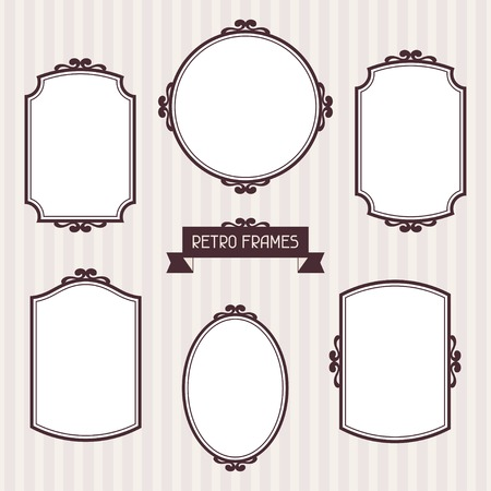baroque picture frame: Collection of frames in retro style