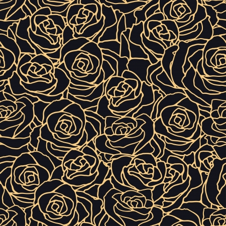 Seamless pattern with flowers roses. Stock Vector - 22380993