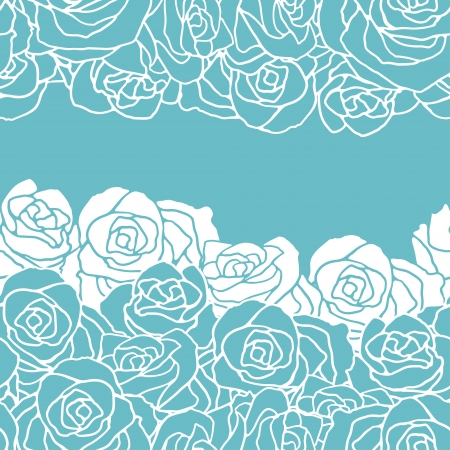 rose bud: Seamless pattern with flowers roses. Illustration