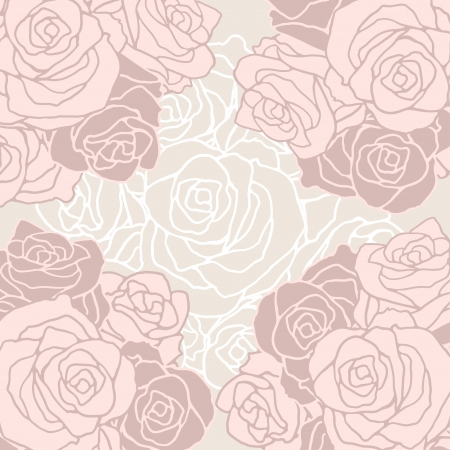 Seamless pattern with flowers roses. Vector