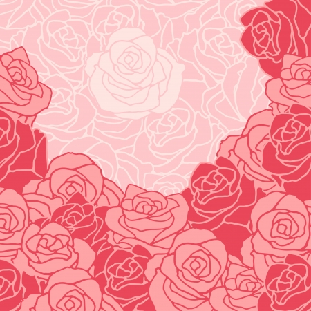Seamless pattern with flowers roses. Stock Vector - 22380998