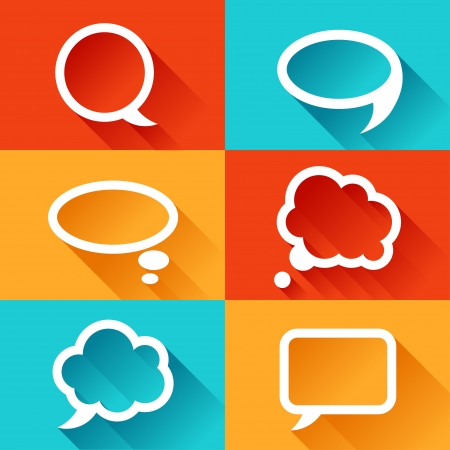 Set of speech bubbles in flat design style. Stock Vector - 22381006
