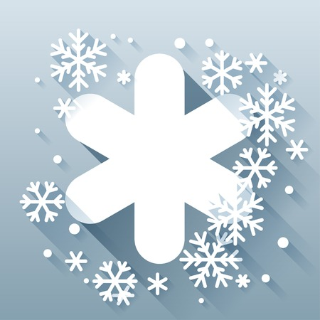 Abstract background with snowflakes in flat design style. Stock Vector - 22483821