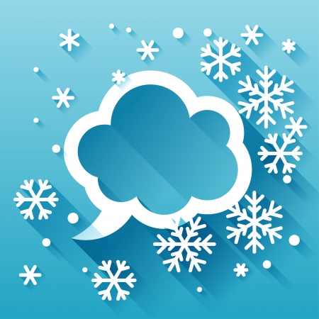 Abstract background with snowflakes in flat design style. Stock Vector - 22483846