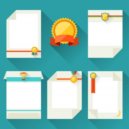 certificate icon: Certificate templates with trophies and awards.