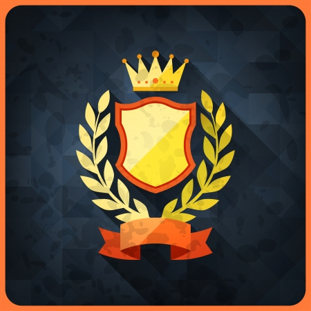 award trophy: Grunge background with trophies and awards.