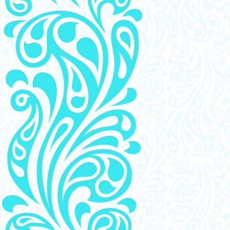 swirly design: Water splash seamless waves abstract pattern.