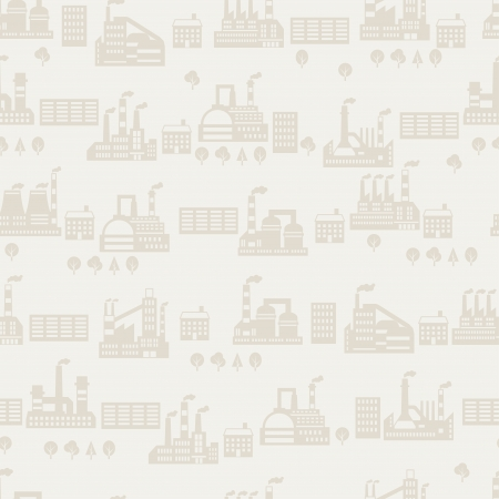 Industrial factory buildings seamless pattern. Stock Vector - 22726668