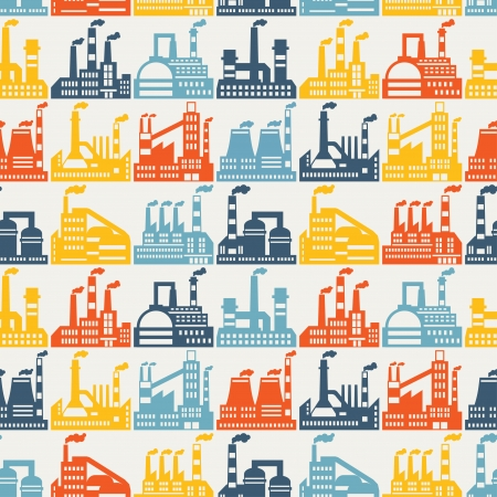 Industrial factory buildings seamless pattern. Stock Vector - 22726676