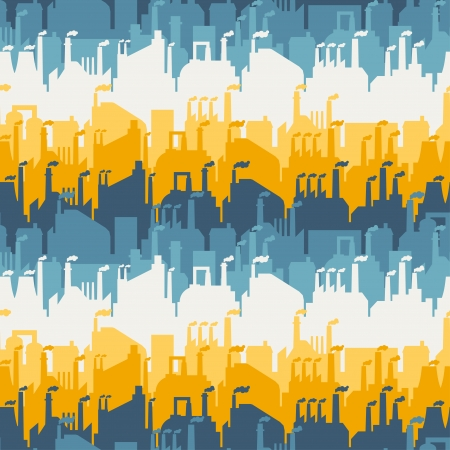 Industrial factory buildings seamless pattern. Stock Vector - 22726675