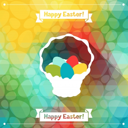 Happy Easter greeting card background. Vector