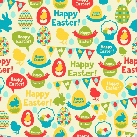 easter chick: Happy Easter seamless pattern.