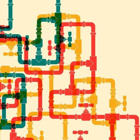 tuberias de agua: Fondo retro con las tuber�as de agua.