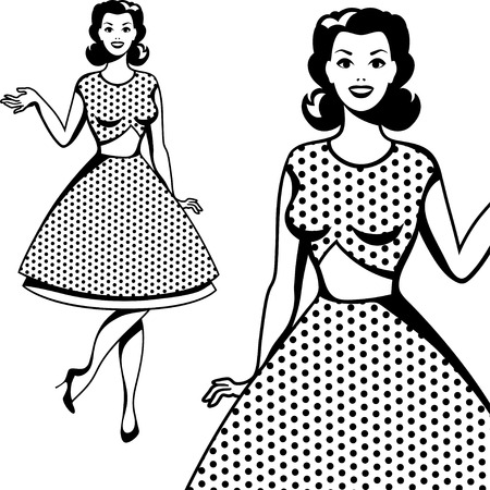 woman arms up: Beautiful retro girl in pop art style