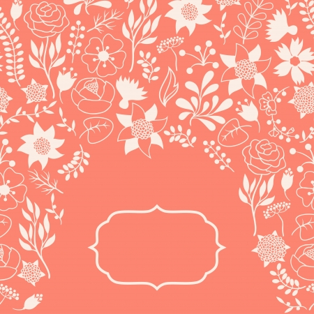 Romantic background of various flowers in retro style. Stock Vector - 24155557