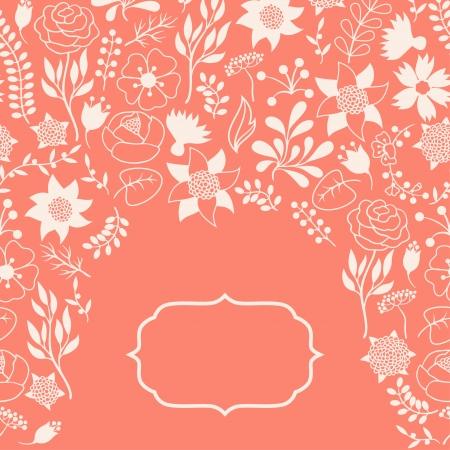 Romantic background of vaus flowers in retro style. Stock Vector - 24155557