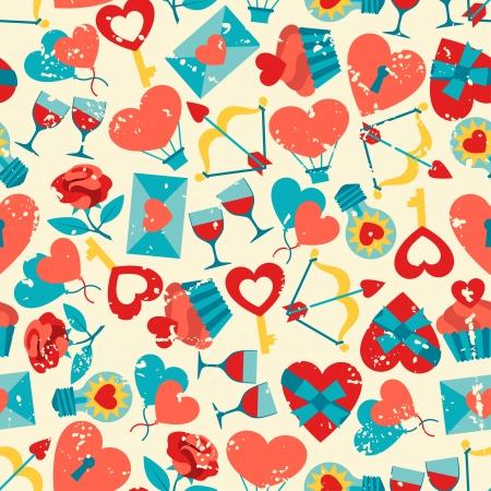 Valentines and Wedding seamless pattern.