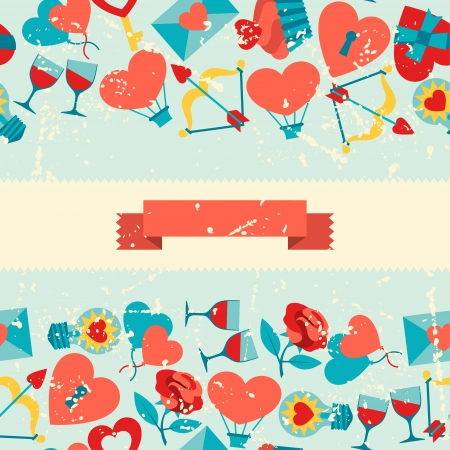Valentine's and Wedding seamless pattern. Vector