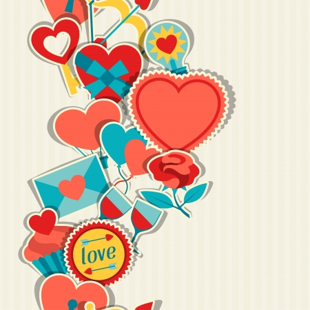 14th: Valentines and Wedding seamless pattern.