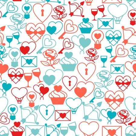 Valentines and Wedding seamless pattern. Vector