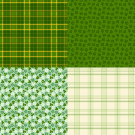 Saint Patricks Day seamless patterns. Vector