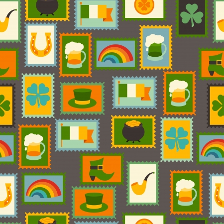 Saint Patrick's Day seamless pattern. Vector
