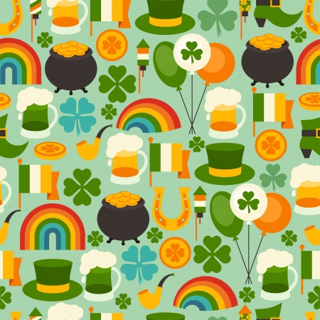 Saint Patrick's Day seamless pattern. Stock Vector - 24346753