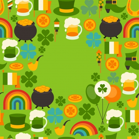 Saint Patricks Day greeting card. Vector
