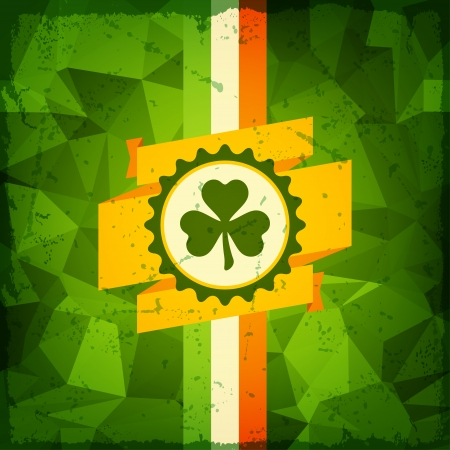 Saint Patricks Day abstract grunge background. Vector