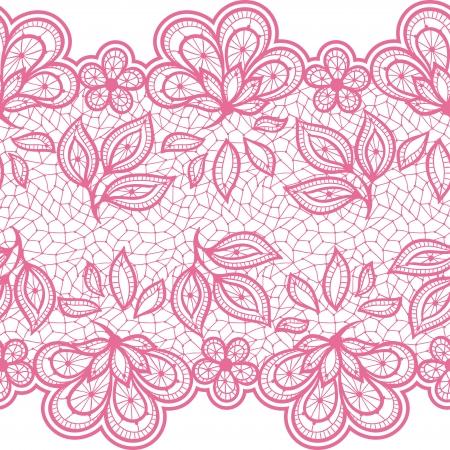 Encaje antiguo patrón, flores ornamentales. Vector textura.