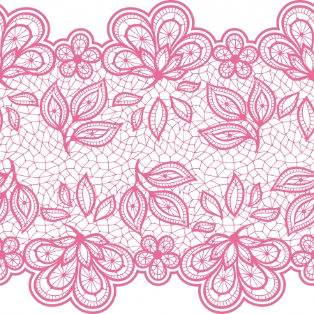 lingerie: Old lace seamless pattern, ornamental flowers. Vector texture. Illustration
