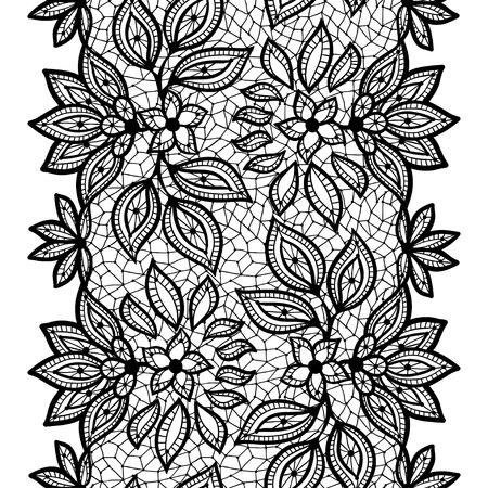 Alte Spitze nahtlose Muster, dekorative Grenze. Vektor-Textur.