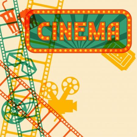 映画と映画のレトロな背景。