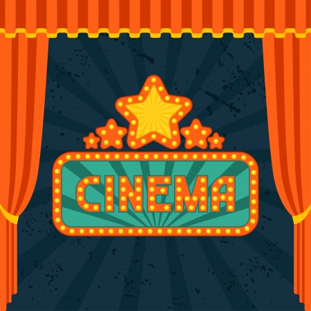 Movie and cinema retro. Vector