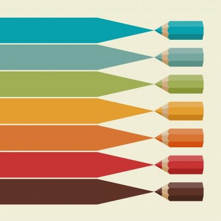 Fondo infografía creativa con lápices de colores Foto de archivo - 25041478