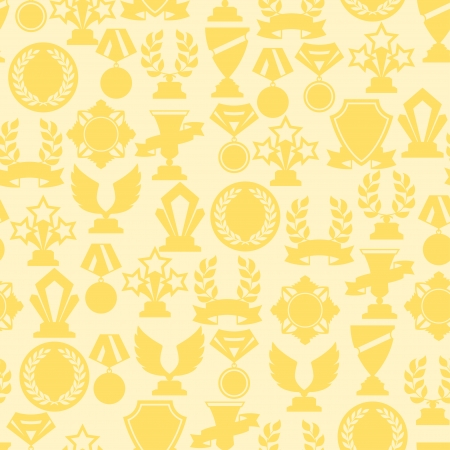 orden: Seamless pattern with trophy and awards