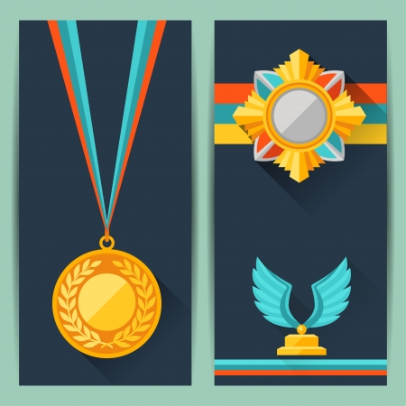 award trophy: Certificate templates with trophies and awards.