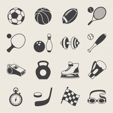 sport balls: Set of sport icons.